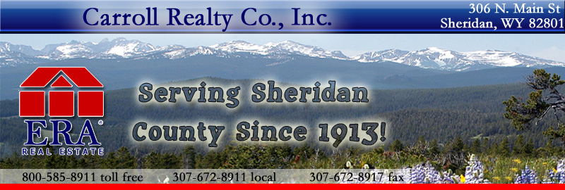 ERA Carroll Realty Sheridan Wyoming Real Estate and Homes for Rent - Property Management - Leases